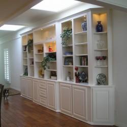 Built in bookcase cabinets in Newport Beach, CA.