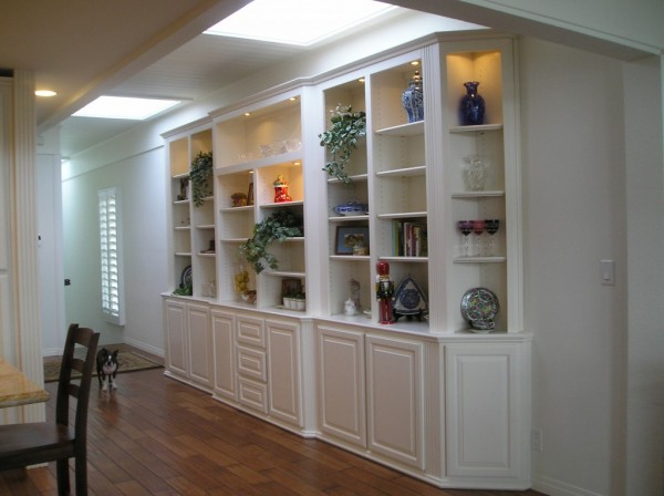 Built in bookcase cabinets in Newport Beach, CA.