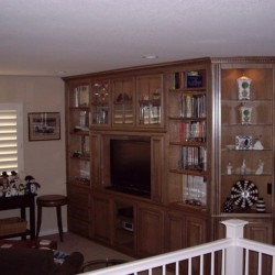 Custom built entertainment center.