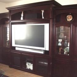 Flat screen tv entertainment center
