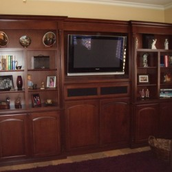 Flat screen tv entertainment center