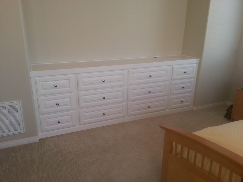Chino Ca. Bedroom Alcove. Custom Built Dresser