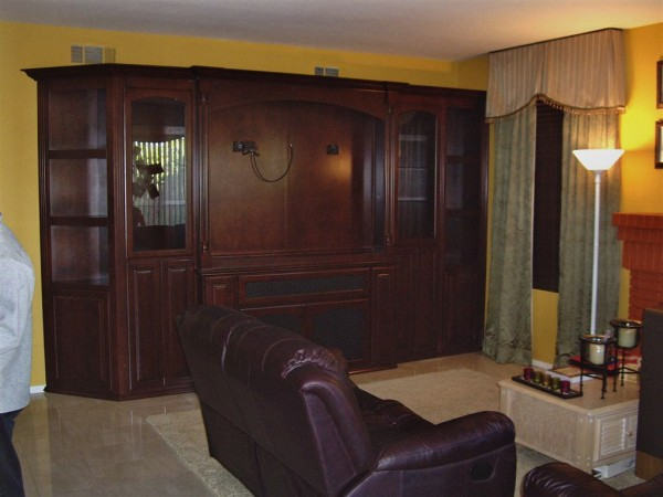 Custom entertainment center in Mission Viejo Ca