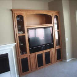 Built in TV wall unit furniture