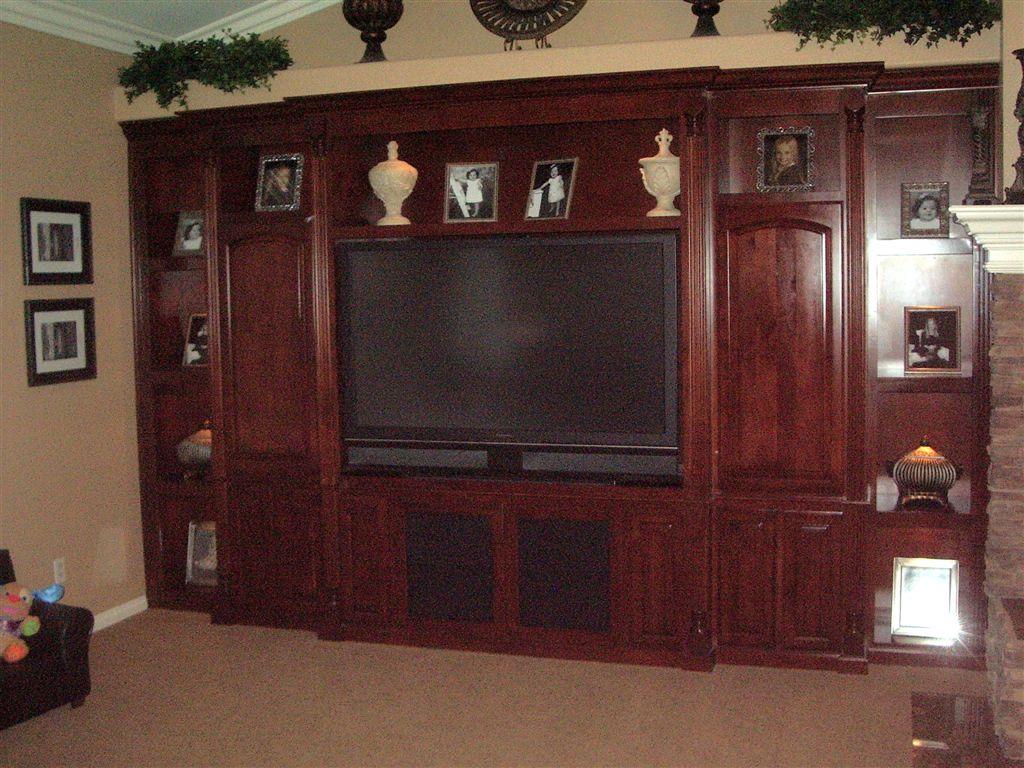 Custom entertainment center cabinetry