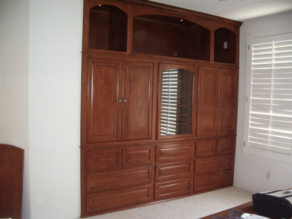 Laguna Niguel Ca. Bedroom alcove. Light fruitwood stain on Maple