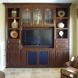 Flat screen tv built in wall unit