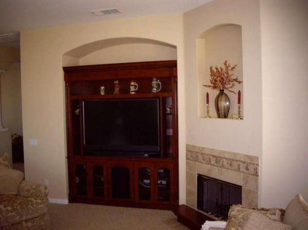 We build custom cabinets like these for your media niche