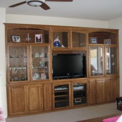 Looking for a custom cabinet? We make built in shelves and custom wall units