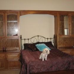 Custom built in bed