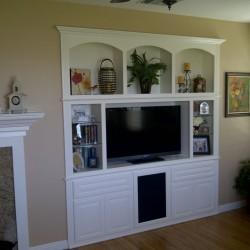 Custom white wall unit