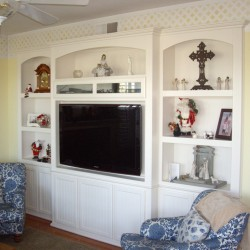 Huntington Beach Ca - Wall unit finished in White lacquer over maple