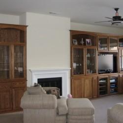 Custom built wall unit with adjustable shelves