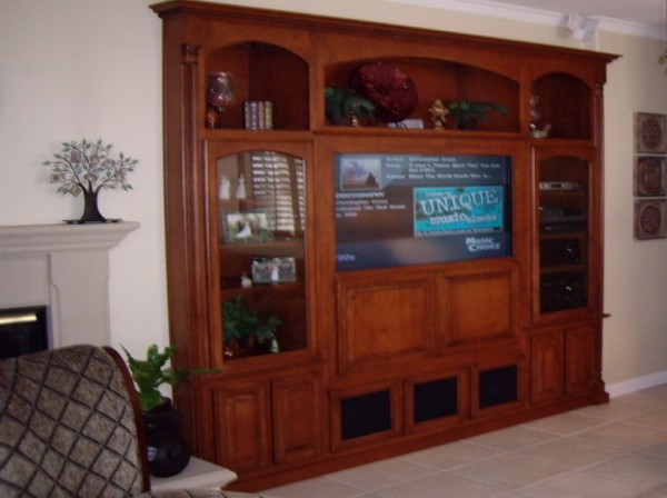 Custom built in wall unit - we can built this for your Orange county home