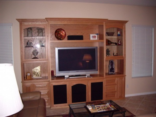 Custom wall unit in Southern California