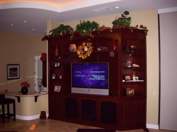 We can built you a custom wall unit like this in the Inland Empire