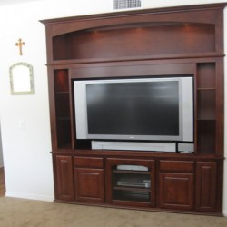 We can built you a custom wall unit like this in San Diego.