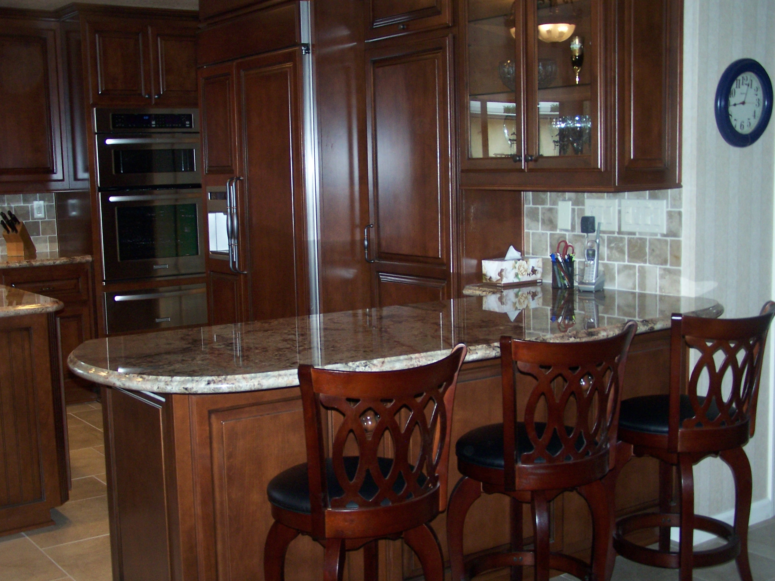 kitchen bar cabinet ideas custom kitchen cabinetry with breakfast bar c amp l design 18133