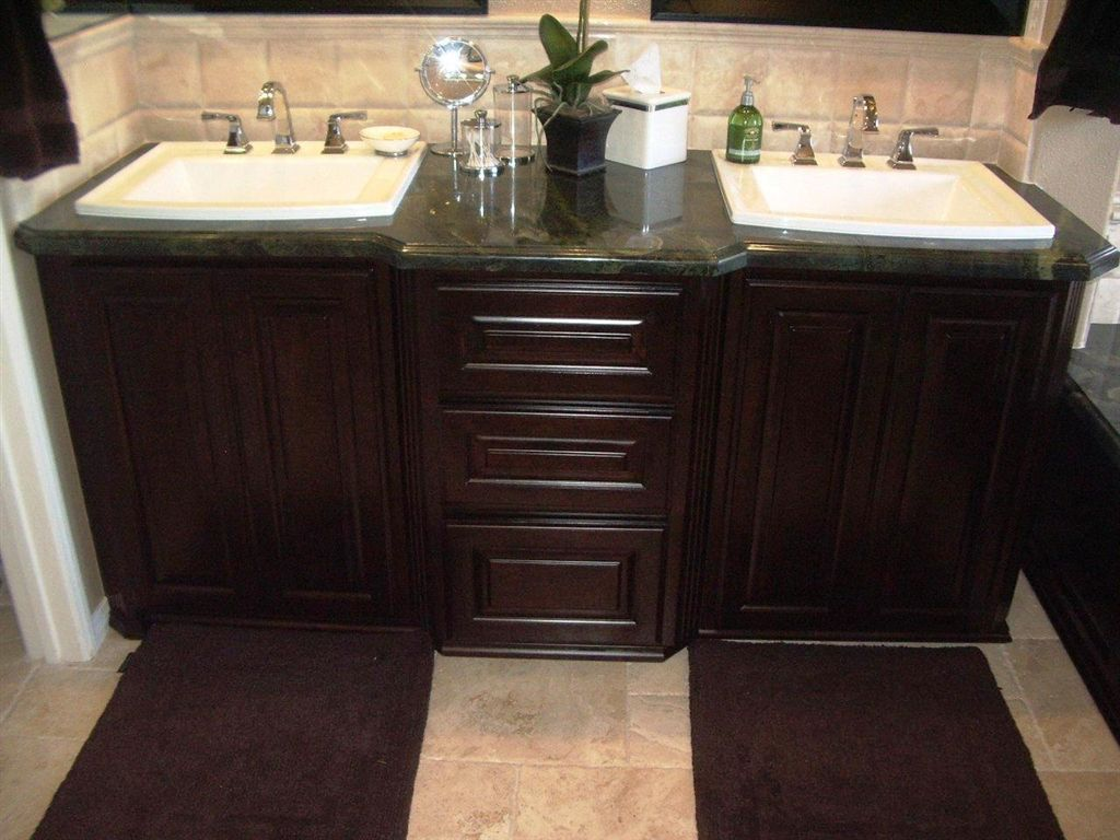 Superb Custom Bathroom Cabinets. No More Unusable TOE KICK Area. Custom!
