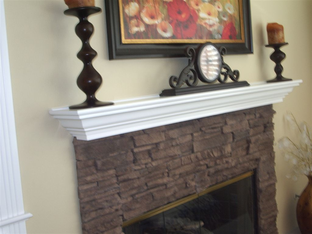 white lacquer fireplace mantel - Fireplace Mantel And Bookshelves