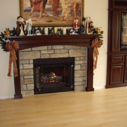 A new fireplace mantel
