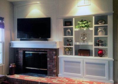 White custom cabinets