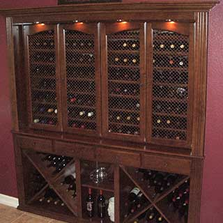 Custom home wine storage