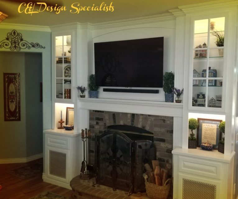 Custom Cabinets Around Your Fireplace