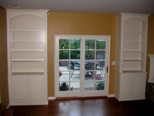Bookcase. Pasadena Ca. White Lacquer