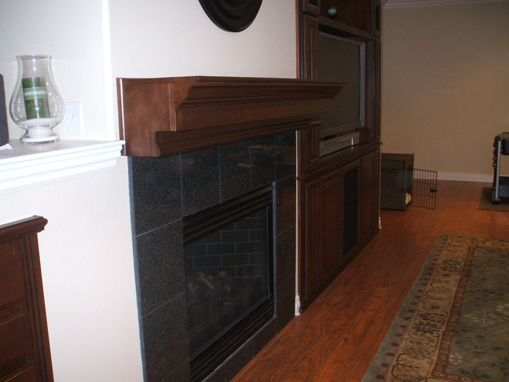 Wooden Fireplace Mantel And Built In Wall Unit C L