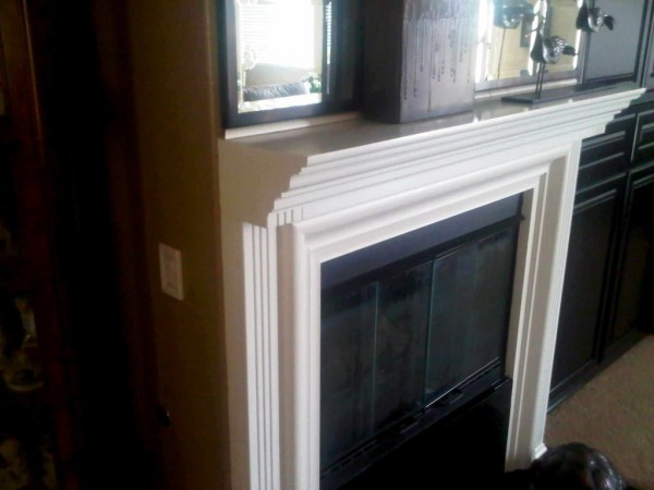 Wood Fireplace Mantel Finished In White Lacquer C amp L