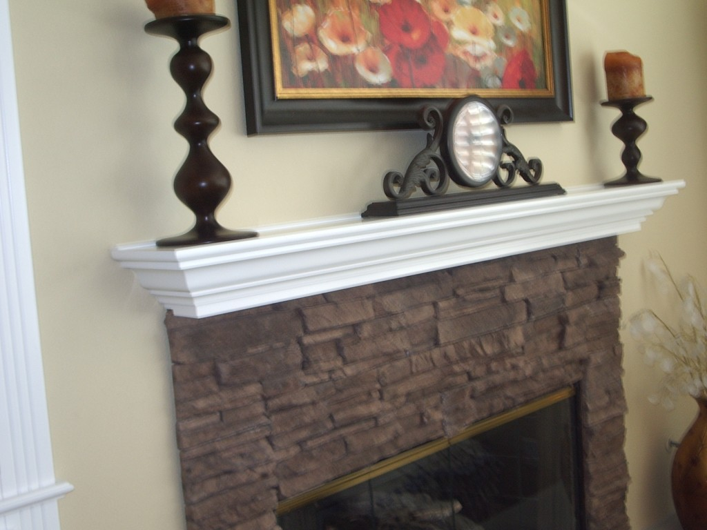 Match your fireplace mantel to the surrounding custom cabinets. Really accent the area and make it beautiful or build it up to a massive centerpiece.