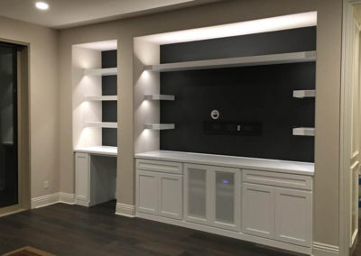 4 S Ranch white custom cabinet