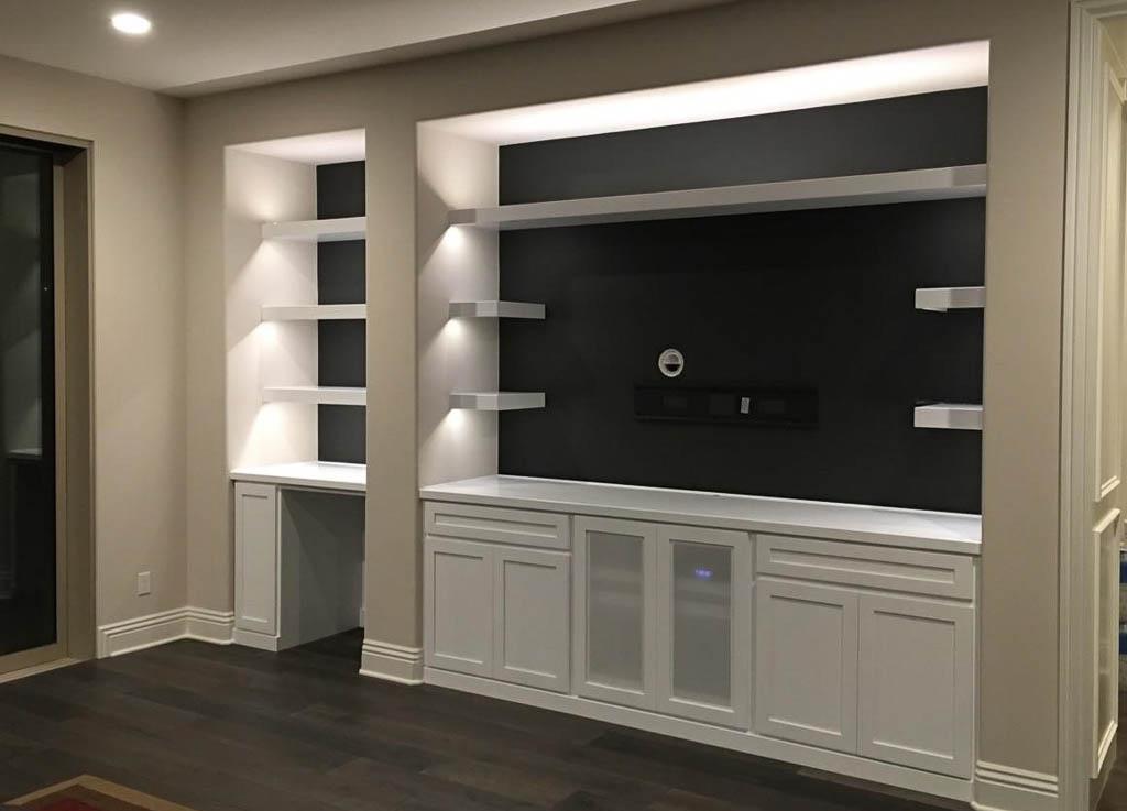 4 S Ranch White Custom Cabinet