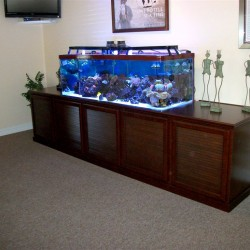 Fish tank stand with louver doors.