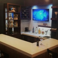 State of the art home wet bar. Redlands Ca