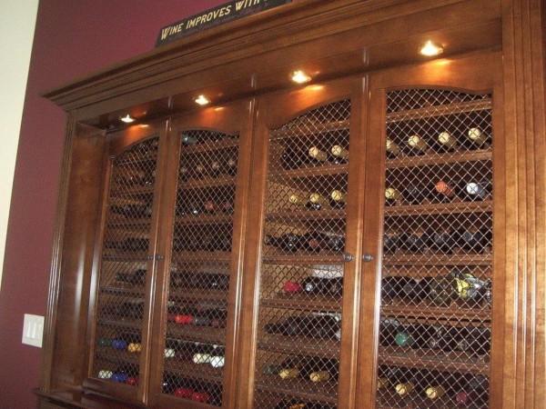 Built In Wine Storage Cabinet In San Diego C Amp L Design