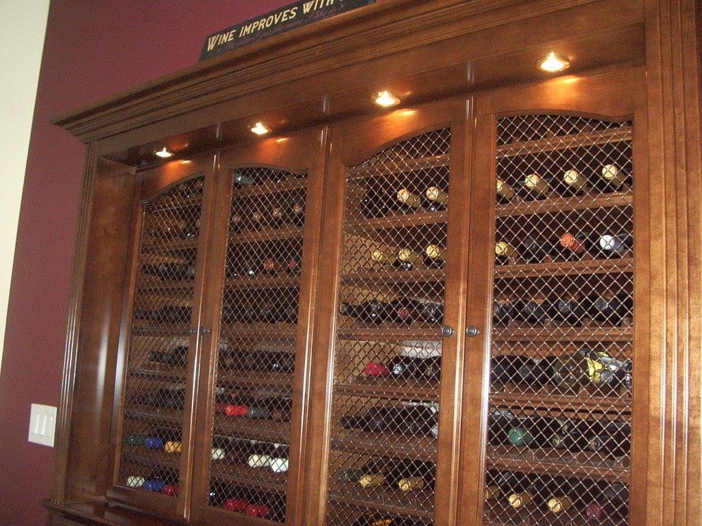 Built in wine storage cabinet in san diego