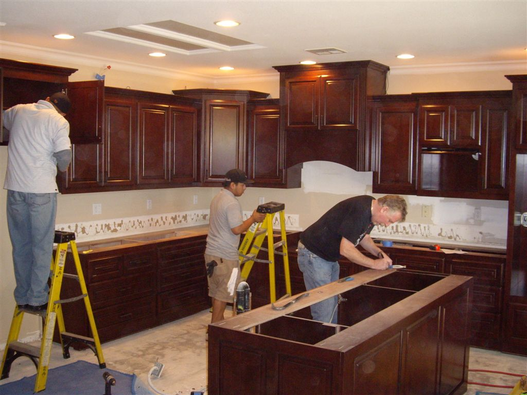 Kitchen cabinet installation in Corona, CA | C & L Design ... on installing wall cabinets, corner to install kitchen cabinets, how design kitchen cabinets, install toe kick cabinets, installing corner cabinets, applying crown molding to cabinets, install crown molding kitchen cabinets,