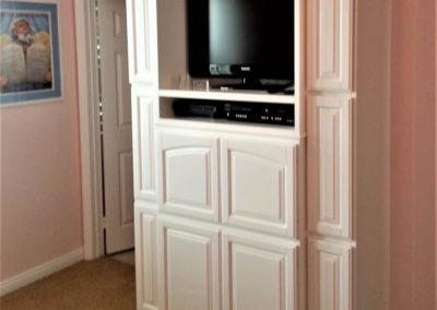 Custom cabinets in bedroom