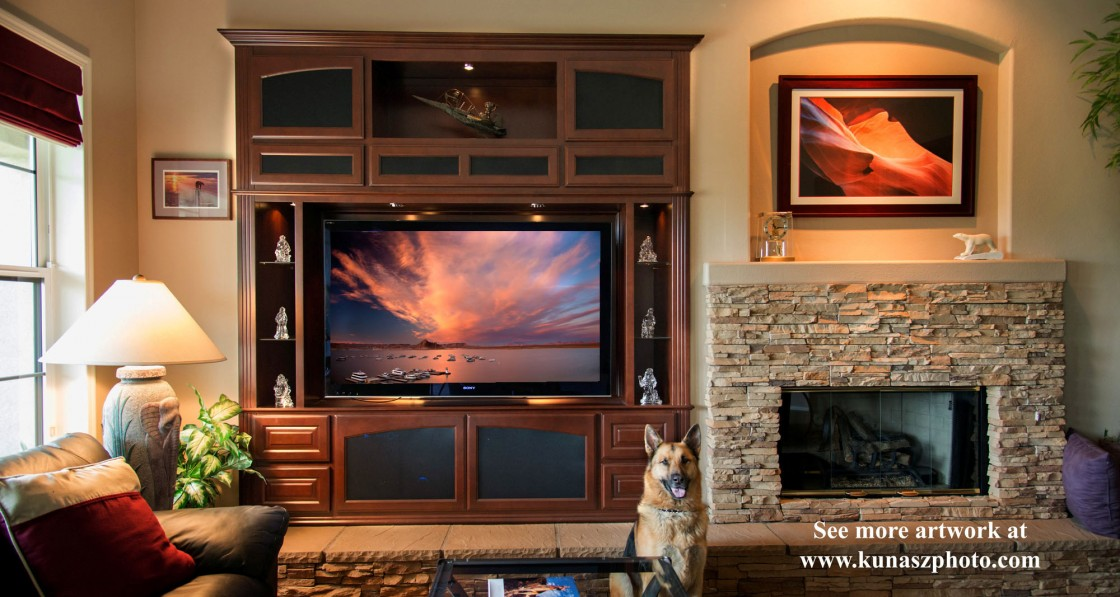 Maple entertainment center in Fallbrook, CA.