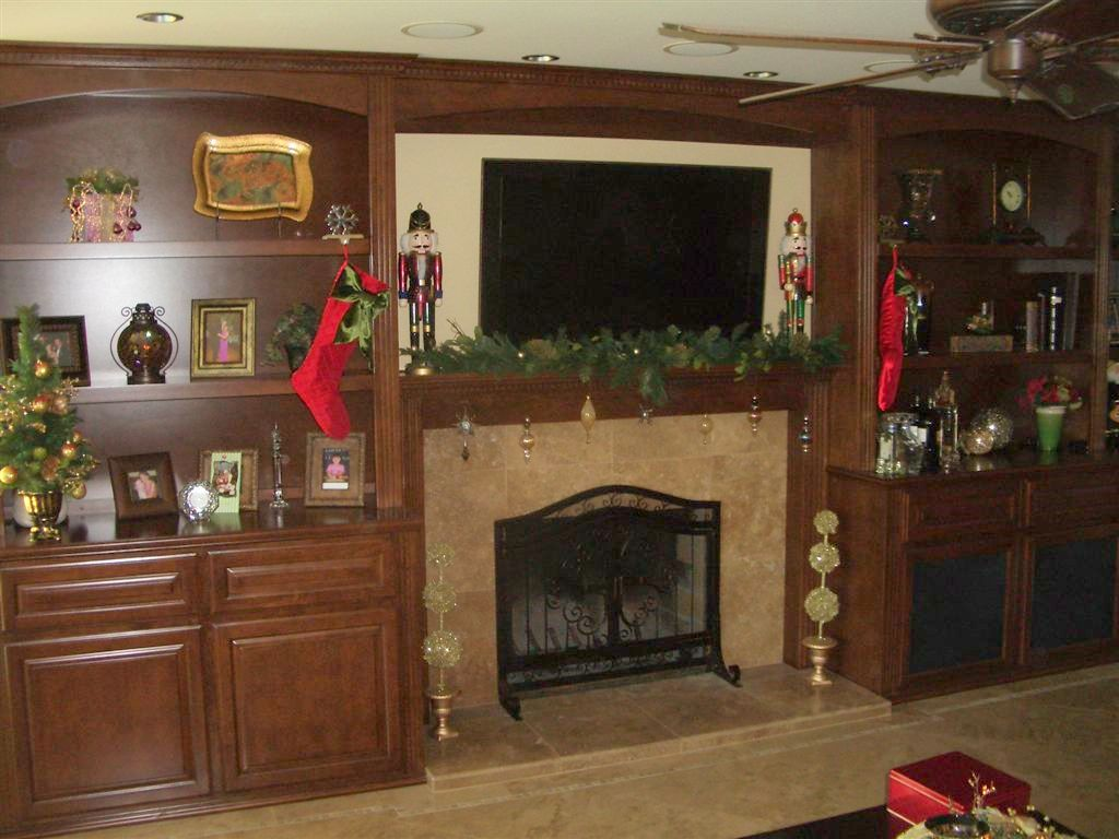 Built In Wall Unit And Fireplace Mantel C Amp L Design