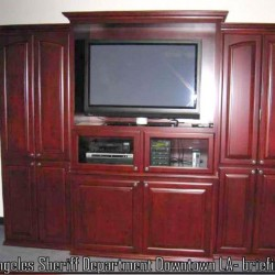 Built in wall unit.