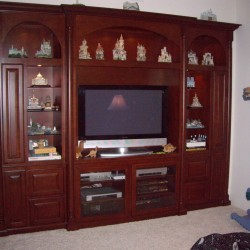 Built in wall unit with arches