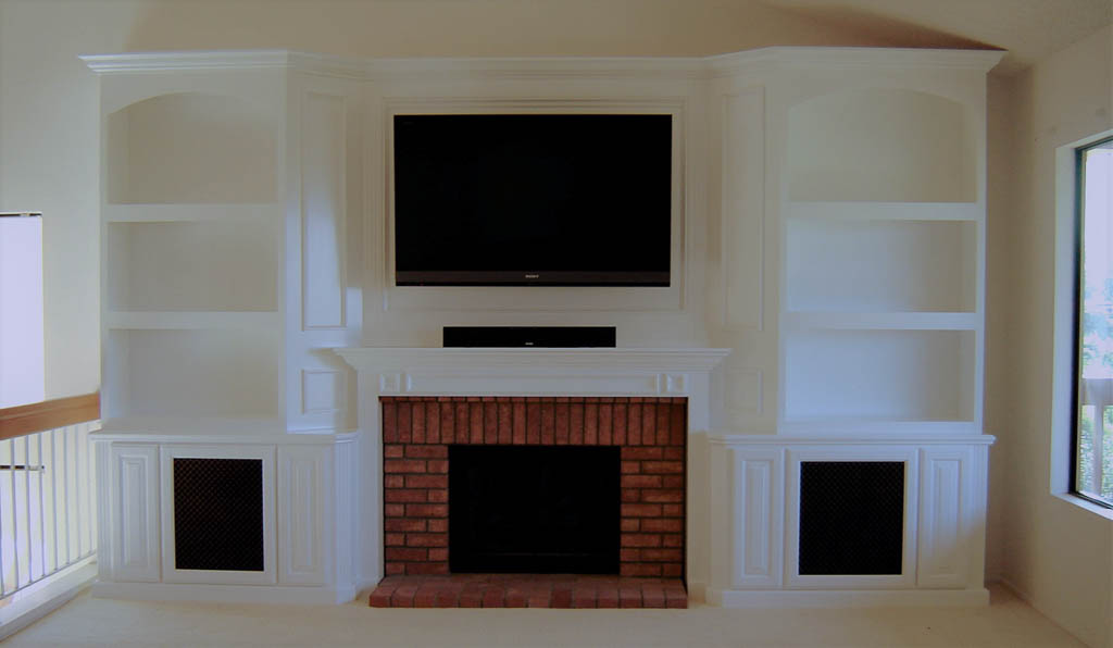Built Cabinets Around Fireplace Fireplaces