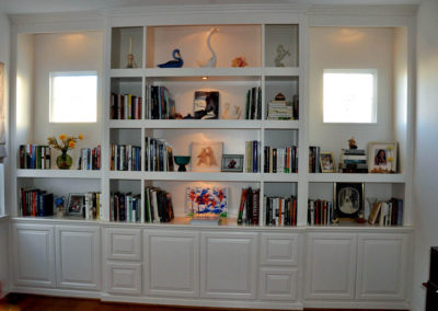 Built in bookcases