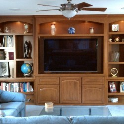 Custom wall units and entertainment centers