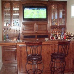 Built in home bar with TV in Laguna Niguel