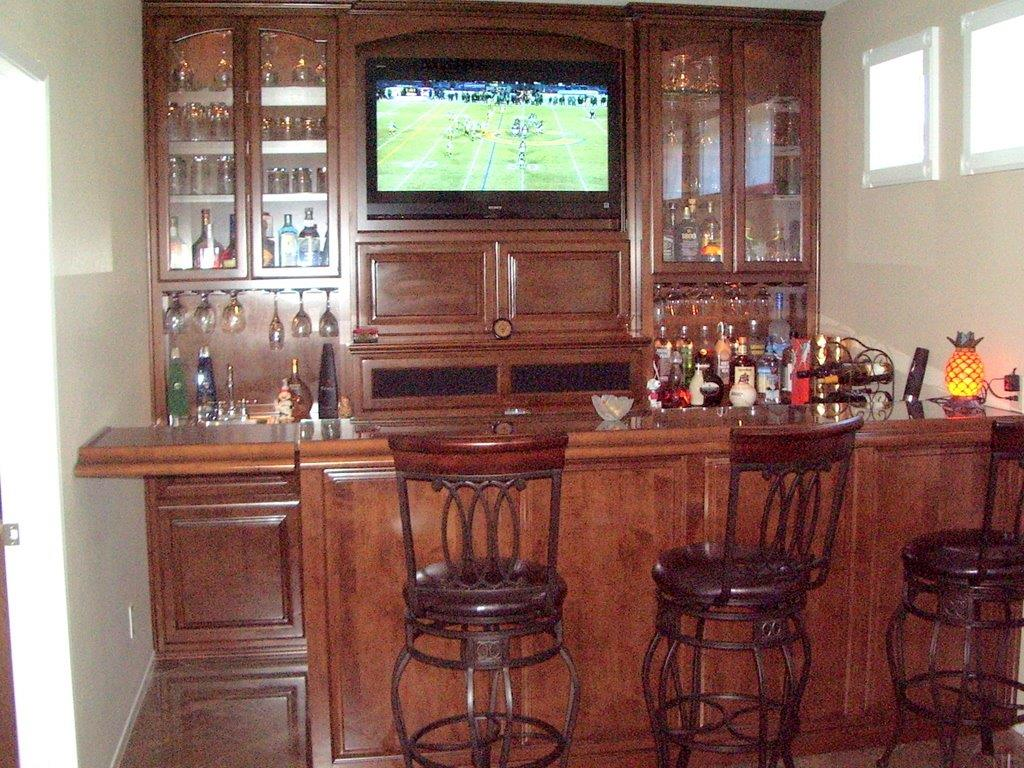 Custom home bars and wine storage cabinets for Unique home bars