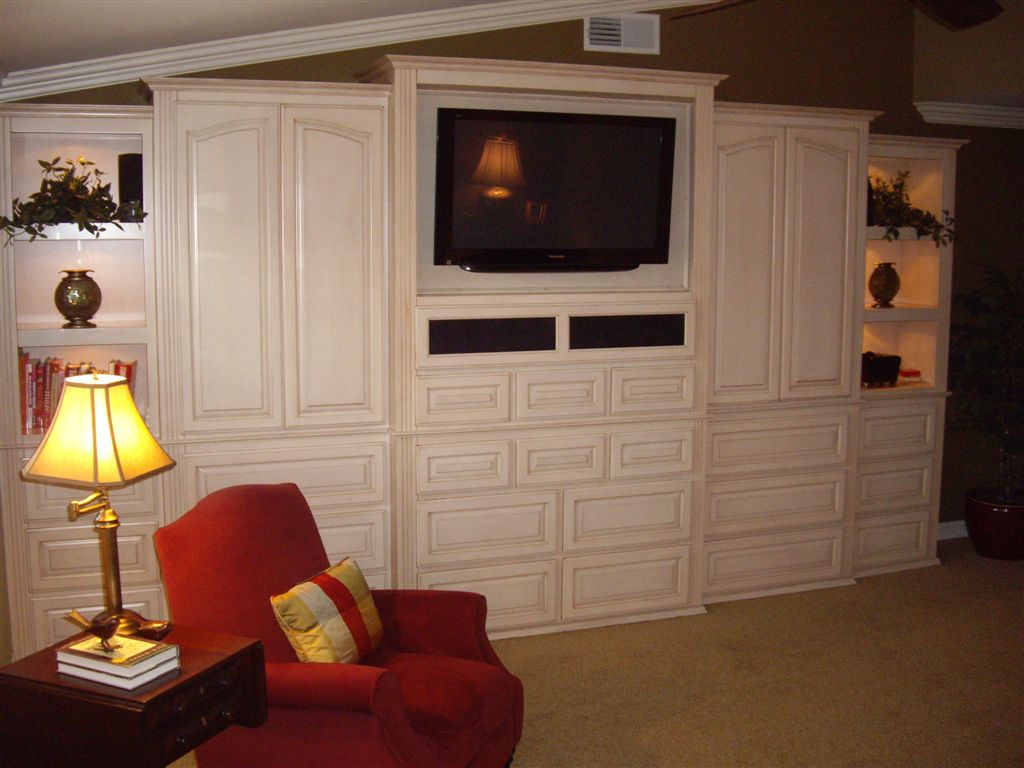 Entertainment centers designed built installed completely custom for Bedroom entertainment center